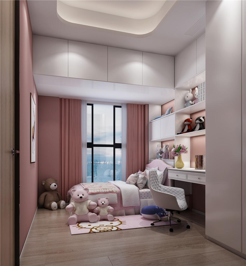 儿童房装修,少女粉色